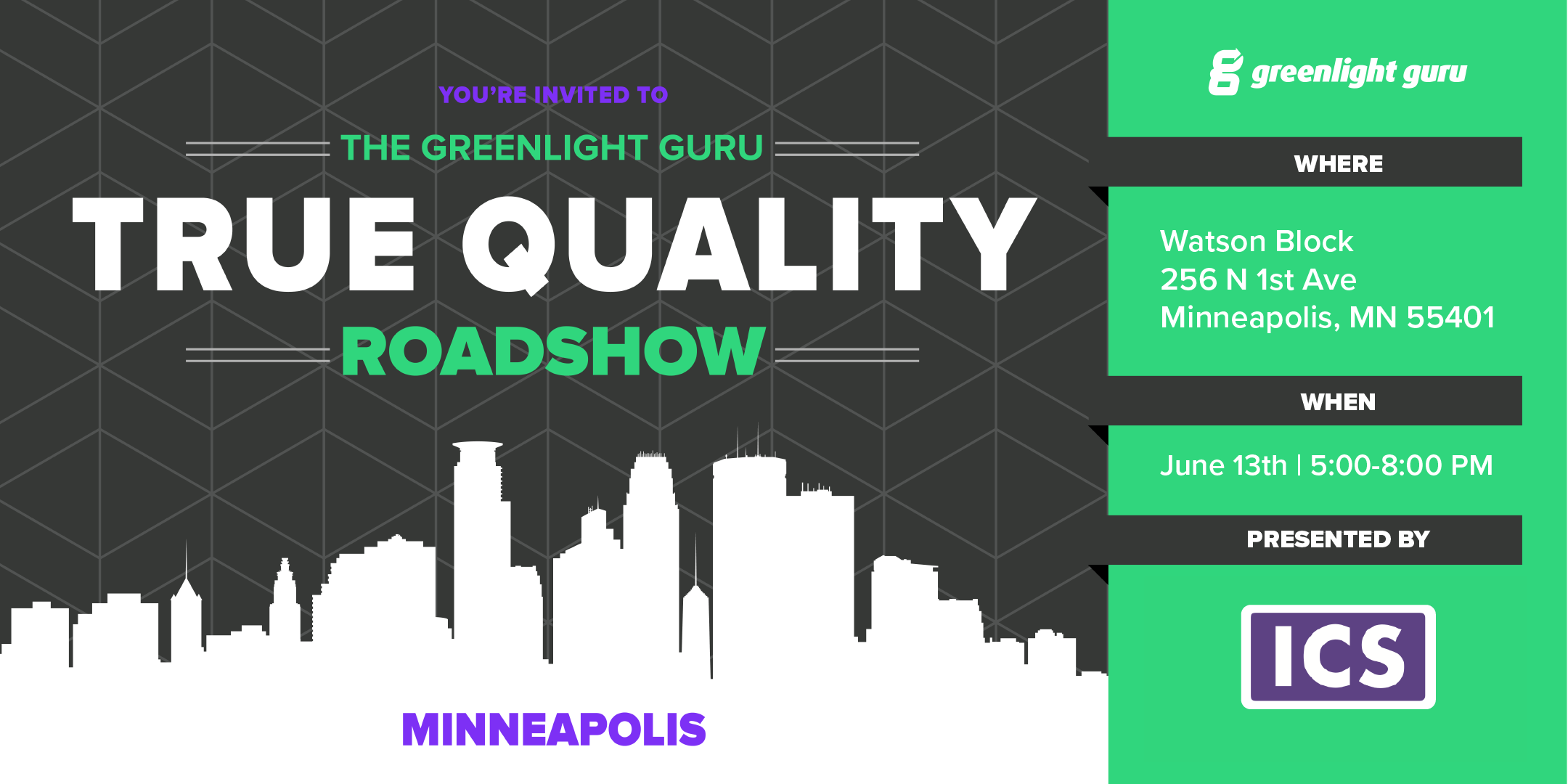 Greenlight Guru True Quality Roadshow