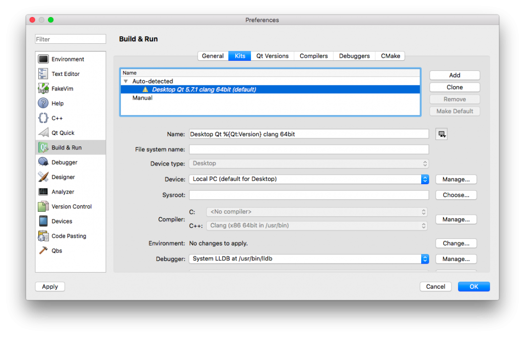 Getting Started With Qt and Qt Creator on MacOS | ICS