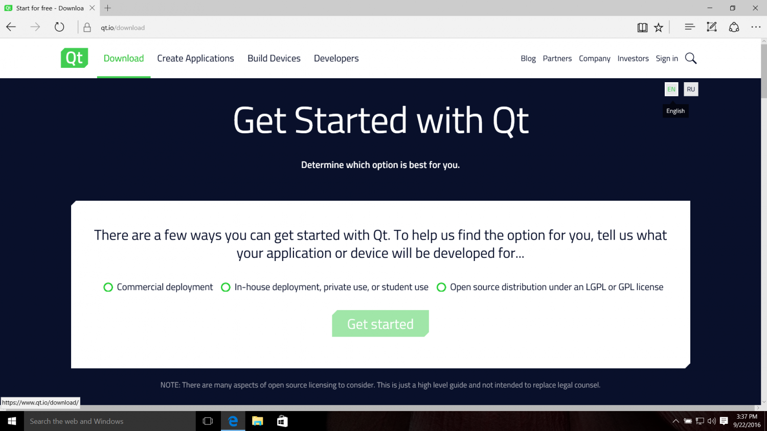 Getting Started With Qt and Qt Creator on Windows | ICS