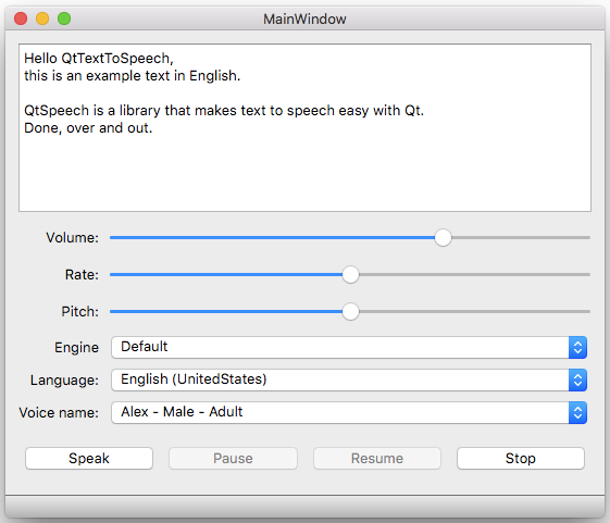 Text to Speech: A Look at the Qt Speech Module | ICS