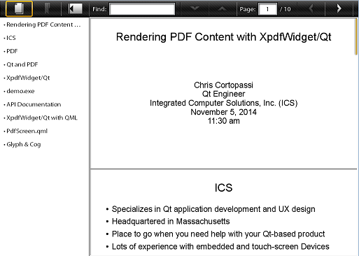 Rendering PDF Content with XpdfWidget