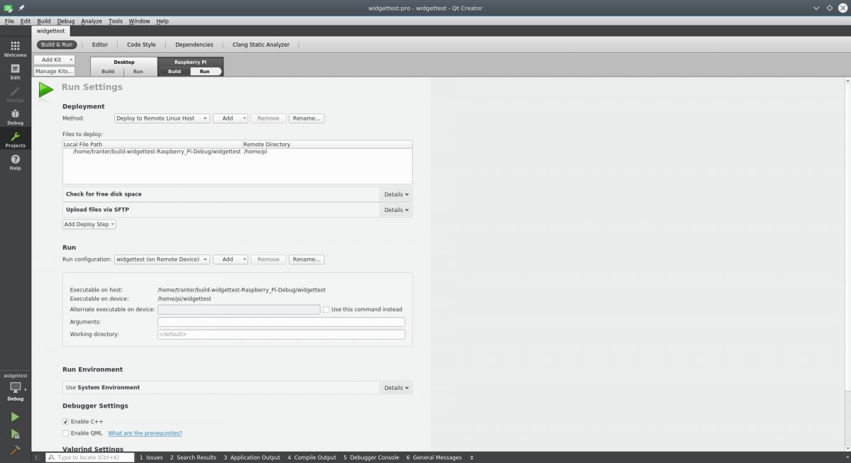 Configuring Qt Creator for the Raspberry Pi | ICS