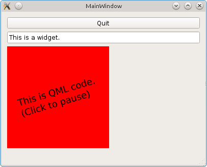 Combining Qt Widgets and QML with QWidget::createWindowContainer
