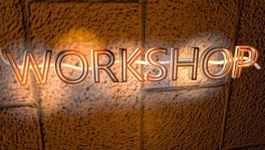 Workshop neon sign