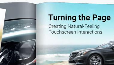 Turning the Page: Creating natural-Feeling Touchscreen Interactions